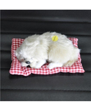 White Simulation Animal Doll Plush Sleeping Dogs